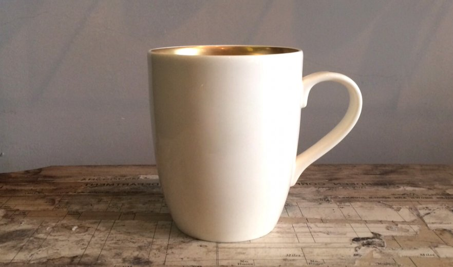 new 22ct gold classic mug custoimse