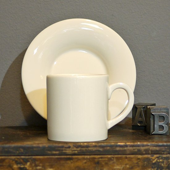 Personalise Cream Espresso Cup with Saucer