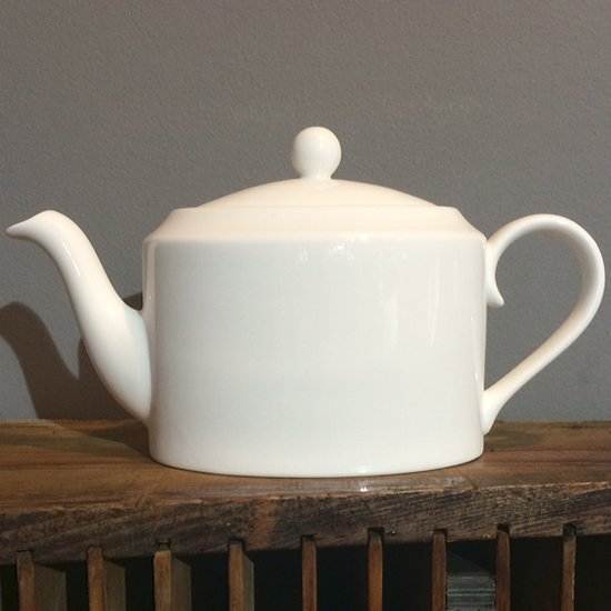 Personalise White Bone China Large Teapot