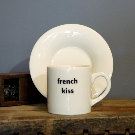 french kiss espresso cup & saucer