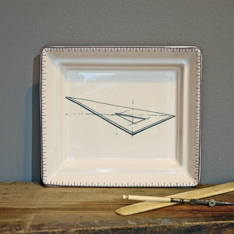 set square hall tray