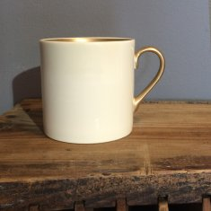 personalise 22ct gold small bone china mug