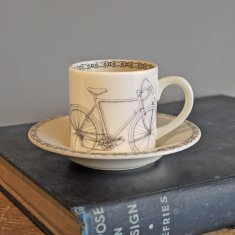 bicycle espresso cup & saucer