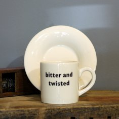 bitter and twisted espress cup & saucer