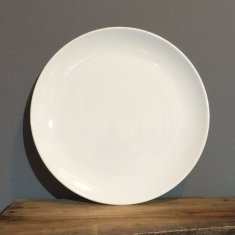 personalise white coupe dinner plate