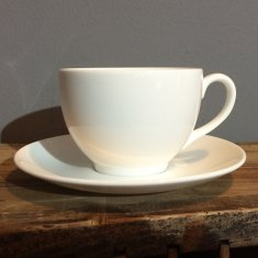 personalise white bone china tea cup