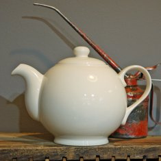 personalise cream large teapot