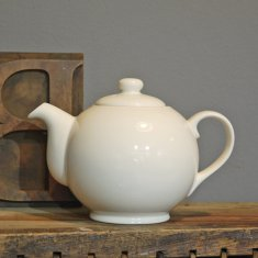 personalise cream small teapot