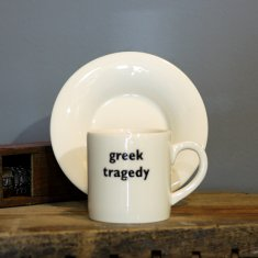 greek tragedy espresso cup & saucer