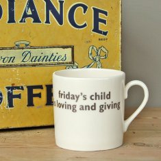 friday's child mug