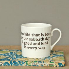 sunday's child mug