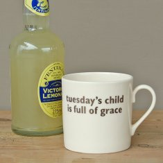 tuesday's child mug
