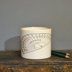 protractor small pen pot