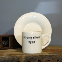 strong silent type espresso cup & saucer