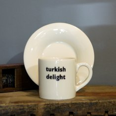 turkish delight espresso cup & saucer